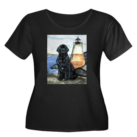 Newfoundland Lighthouse Women's Plus Size Scoop Ne