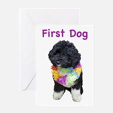 Bo First Dog Greeting Card