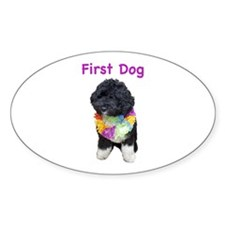 Bo First Dog Oval Decal