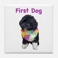 Bo First Dog Tile Coaster