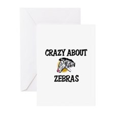Crazy About Zebras Greeting Cards (Pk of 10)