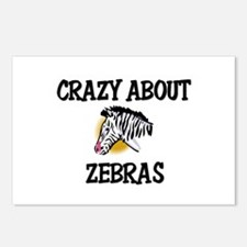 Crazy About Zebras Postcards (Package of 8)