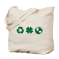 Recycle, Clover, Earth Tote Bag