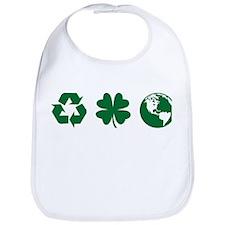 Recycle, Clover, Earth Bib