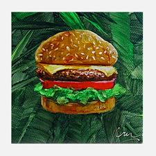 Tropical Cheeseburger Tile Coaster