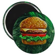 Tropical Cheeseburger Magnet