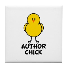 Author Chick Tile Coaster