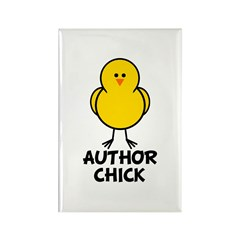 Author Chick Rectangle Magnet
