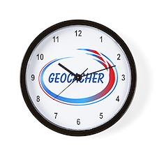 Blue Geocacher Pizzaz Wall Clock