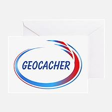 Blue Geocacher Pizzaz Greeting Card