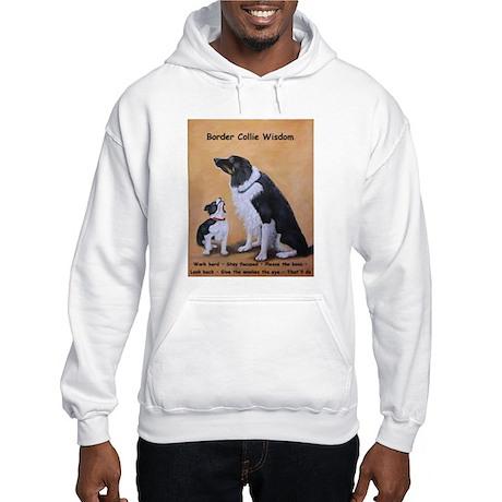 Border Collie Wisdom Hooded Sweatshirt