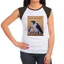 Border Collie Wisdom Women's Cap Sleeve T-Shirt