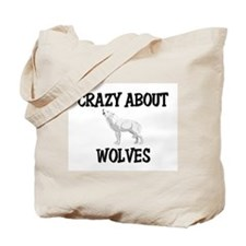 Crazy About Wolves Tote Bag