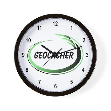 Green Geocacher Pizzaz Wall Clock