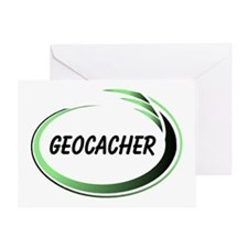 Green Geocacher Pizzaz Greeting Card
