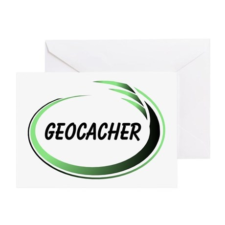 Green Geocacher Pizzaz Greeting Card