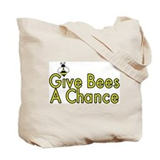 Give Bees A Chance Dark Tote Bag