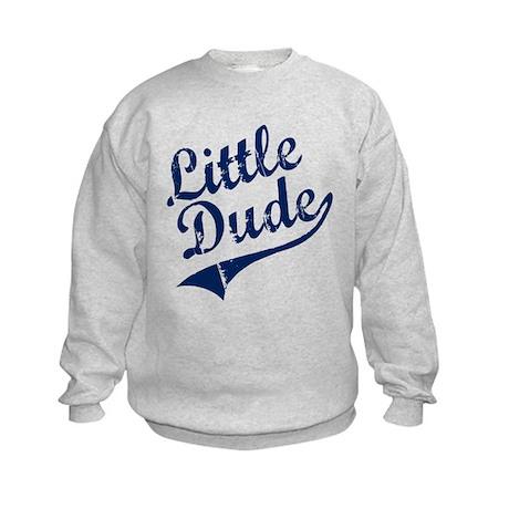 LITTLE DUDE (Script) Kids Sweatshirt