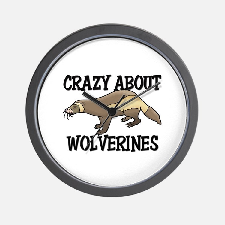 Crazy About Wolverines Wall Clock