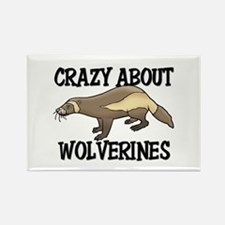 Crazy About Wolverines Rectangle Magnet (10 pack)