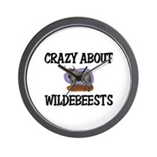 Crazy About Wildebeests Wall Clock