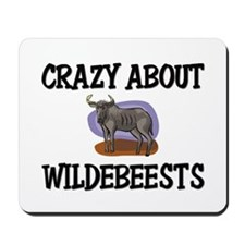 Crazy About Wildebeests Mousepad