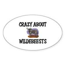 Crazy About Wildebeests Oval Decal