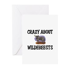 Crazy About Wildebeests Greeting Cards (Pk of 10)