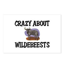 Crazy About Wildebeests Postcards (Package of 8)