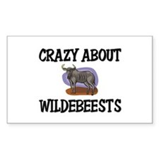 Crazy About Wildebeests Rectangle Decal