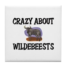 Crazy About Wildebeests Tile Coaster