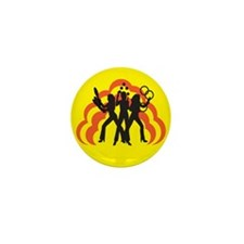 Juggle Angels (yellow) Mini Button (10 pack)