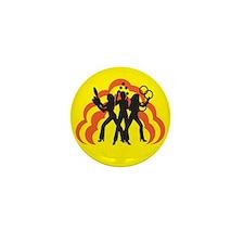 Juggle Angels (yellow) Mini Button