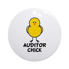 Auditor Chick Ornament (Round)