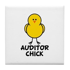 Auditor Chick Tile Coaster
