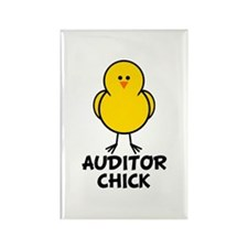 Auditor Chick Rectangle Magnet