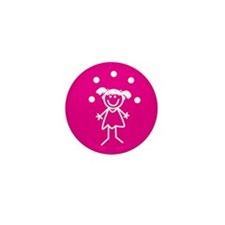 Juggle Girl (pink) Mini Button (10 pack)