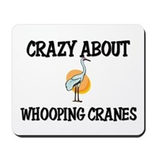 Crazy About Whooping Cranes Mousepad