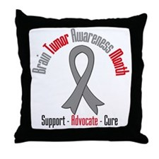Brain Tumor Month Throw Pillow