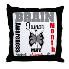 BrainTumorAwareness Throw Pillow