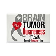 Brain Tumor Month Rectangle Magnet