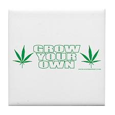 Grow Your Own Tile Coaster