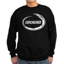 Black Geocacher Pizzaz Sweatshirt
