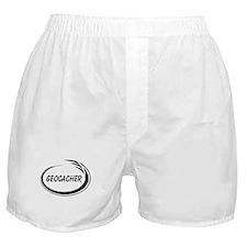 Black Geocacher Pizzaz Boxer Shorts