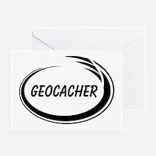 Black Geocacher Pizzaz Greeting Card