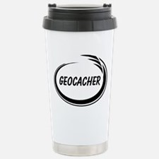 Black Geocacher Pizzaz Stainless Steel Travel Mug