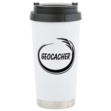 Black Geocacher Pizzaz Travel Mug
