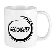 Black Geocacher Pizzaz Mug