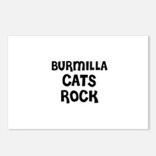 BURMILLA CATS ROCK Postcards (Package of 8)