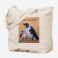 Border Collie Wisdom Tote Bag
